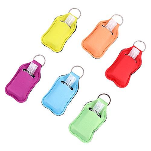 Hemoton 6 Stücke Kinder Reiseflaschen Schlüsselanhänger 30ml Silikon Flip Cap Flasche Leere Seifenspender Nachfüllbare Duschgel Reisebehälter für Parfüm Shampoo Handgel Lotion
