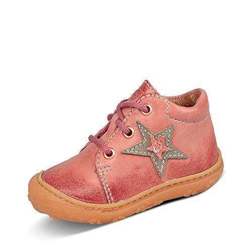 Ricosta Mädchen klassischer Stiefel Pepino Romy Schnürschuh Leder-glatt/genarbt rosa Gr. 24