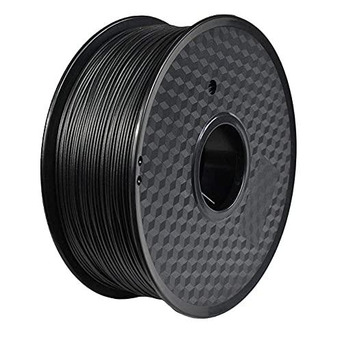 3d Drucker Filament PETG Kohlefasermaterial Antistatische und Anti-Interferenz 1,75 mm 1kg Spule Schwarz