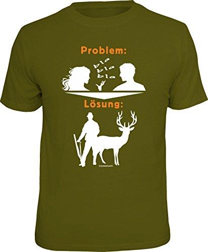RAHMENLOS Original Geschenk T-Shirt für den Jäger: Problem blabla, Lösung: Jagen XL, Nr.1692