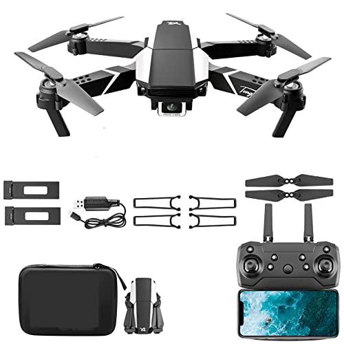 4K Drone Dual. HD Telecamera WIFI Aerial Photography Pieghevole Quadcopter pieghevole con modalità senza testa Gesto a mano Fotografo Steady Hover Gravity Sensor Modalità senza testa 2 Batterie