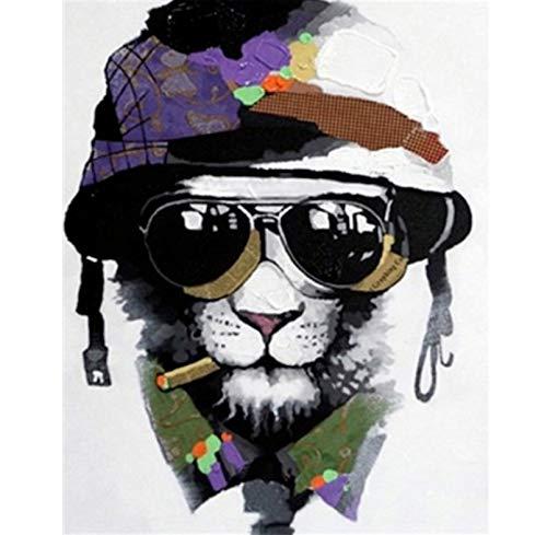 GAGALAM Erwachsene 1000 Stück Großes Puzzle Löwe Mit Sonnenbrille Personalisiertes Geschenk