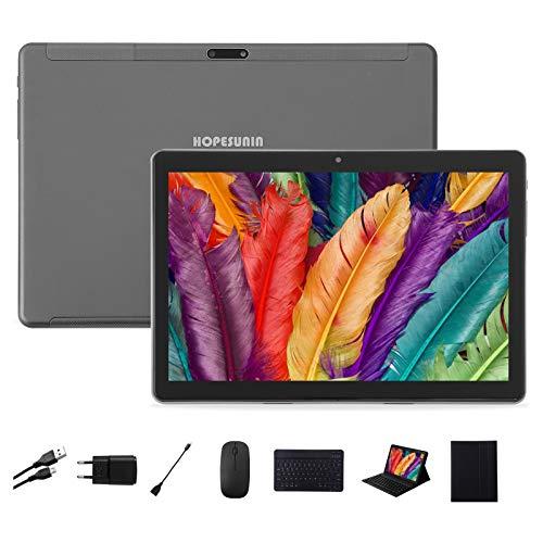 Tableta Android HOPESUNIN de 9.7 Pulgadas, con Android 9.0 ultrarrápido, 4GB RAM, 64GB ROM-certificación gsm de Google, ultradelgada 8000 mAh / 5 MP 8 MP/Type-C (Gris)