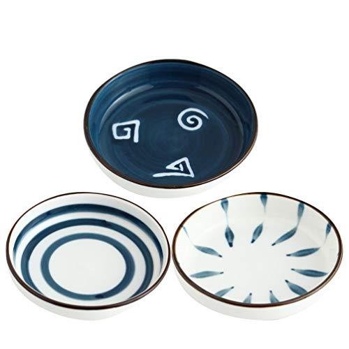 Hemoton 4 Pezzi di Antipasto in Ceramica Piatti di Sushi Giapponesi Piatti da Immersione Ciotole da Dessert Insalate da Pasta Ciotole Vassoio da Portata per Snack di Formaggi di Frutta