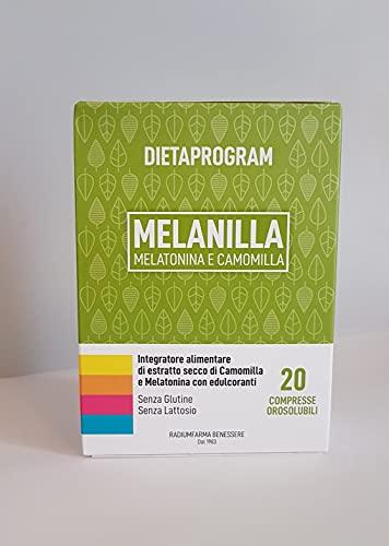 MELANILLA Integratore alimentare di estratto secco di Camomilla e Melatonina - 20 compresse - 4,87 g