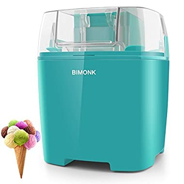 Ice Cream Maker with Detachable Frozen Bowl and Auto Shut-off Timer, 1.5 Quart, BPA Free, Electric ice Cream Machine for Kids DIY Frozen Yogurt, Gelato Or Sorbet Maker