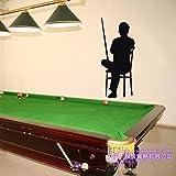 ASFGA Billard Aufkleber Snooker Aufkleber Poster Vinyl Wandtattoo Dekoration Raumdekoration Wandbild Billard Wandtattoo Club 41x100cm