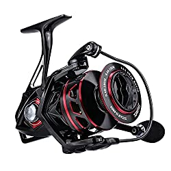 commercial kastking sharky 3 RUNCL Titan II 4000 Spinning Reel, Fishing Reel – Full Metal Body, Maximum Resistance 44 lb, 5 Carbon Fiber Friction Discs, Shielded Stainless Steel Bearings 9 + 1, Hollow Rotor – Brine and Freshwater Fishing
