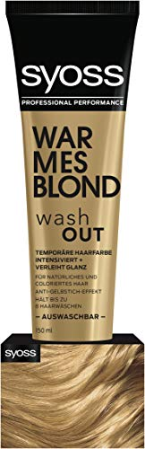 SYOSS Washout Stufe 1 Warmes Blond, temporäre Haarfarbe, 1er Pack (1 x 150 ml)