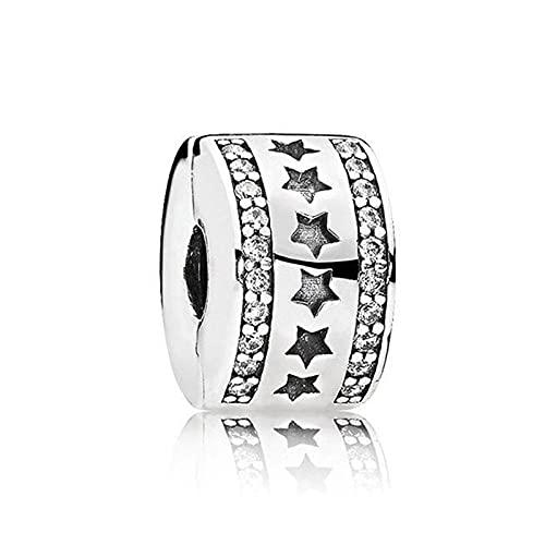 Pandora 925 plata esterlina joyería colgantes nova estrela posicionamento fivela pingente contas adequado para charme pulseira senhoras jóias fazendo presentes