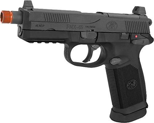 Evike FN Herstal FNX-45 Tactical Airsoft Gas Blowback Pistol by Cybergun (Color: Black/Gun Only)