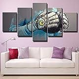 Cuadro Guante De Portero XXL Impresiones En Lienzo 5 Piezas Cuadro Moderno En Lienzo Decoración para El Arte De La Pared del Hogar 150×80 Cm HD Impreso Mural (Enmarcado)