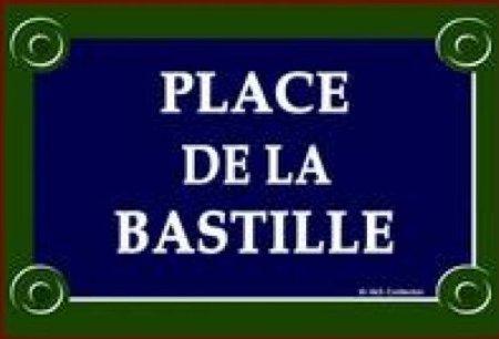 PLAQUE DE RUE METAL 30X20cm PARIS PLACE DE LA BASTILLE CAPITAL FRANCE