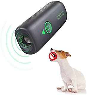 Bark Control Device - Ultrasonic Dog Bark Deterrent, 2 in 1 Rechargeable Anti Barking Dog Behavior Training Tool of 16.4 F...