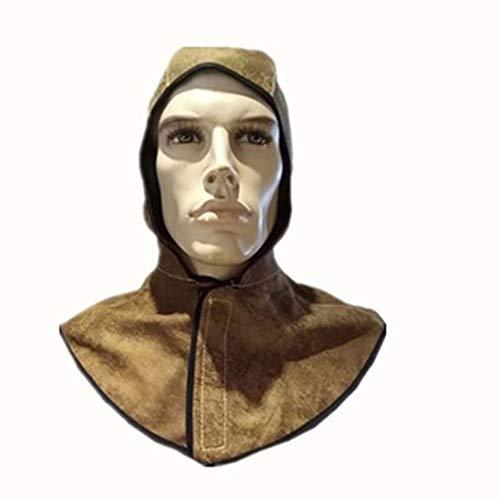 TYXHZL hoofd gedragen lassen helm groothandel lassen masker hoofd bescherming lasser slijtvaste ademende puur lederen sjaal Cap