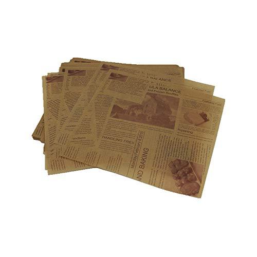 200 Stücke Vintage Zeitung Tisch ölbeständiges Papier Essen Pad Öl Blotting Papiere Für Restaurant Backen