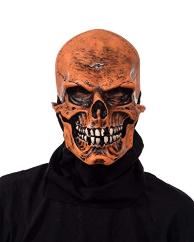 Zagone Studios Máscara de calavera de la muerte en color naranja UV