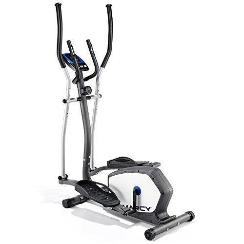 Marcy Antero 1201E Bicicleta eliptica Cross Trainer, Adultos Unisex, Gris/Plateado/Blanco, Ajustable