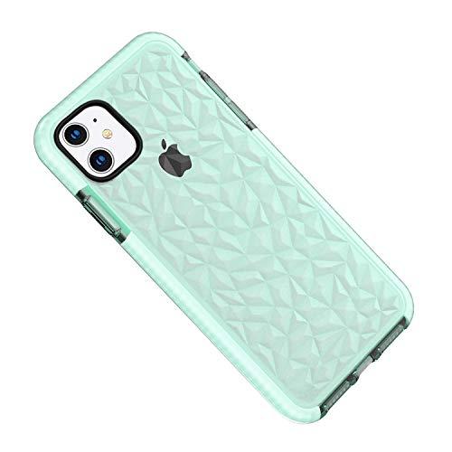 Desconocido Schutzhülle für iPhone 11/14 cm (6,1 Zoll), Silikon, transparent, TPU, stoßfest, ultradünn, Kratzfest