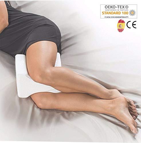 AIMO Spain Almohada cojín para piernas ortopédico de Rodilla KP-001, Facilita el Dormir de Lado, Alivia Dolores de Espalda y Caderas