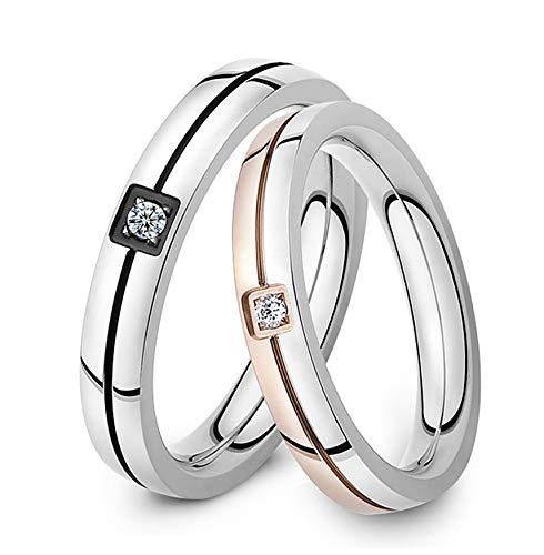 DRG Gioielli Fedine Fidanzamento Coppia Acciaio Matrimonio Incisione Personalizzata Oro Rosa Anello Semplici Nuziali FEDI (con Incisioni)
