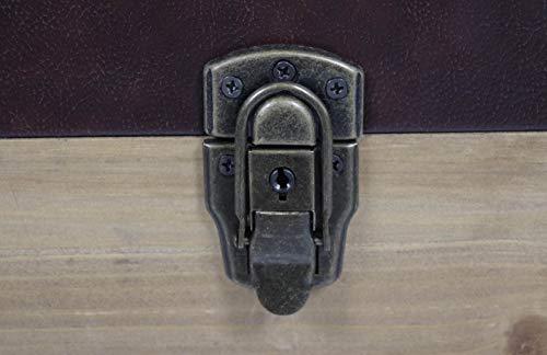 Truhe Schatztruhe Piratentruhe Panama-V - Holz - 80x45x50 cm - 9