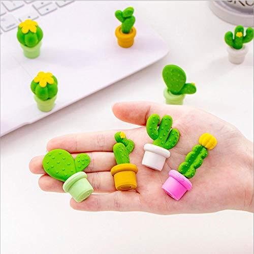 5 Teile/satz Topf Kaktus Serie Radiergummi Set Student Geschenk für Kind Schreibwarenniedlichen radiergummi