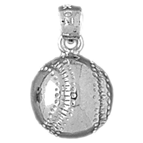 Jewels Obsession Baseball-Anhänger aus 925er Sterlingsilber, 18 mm