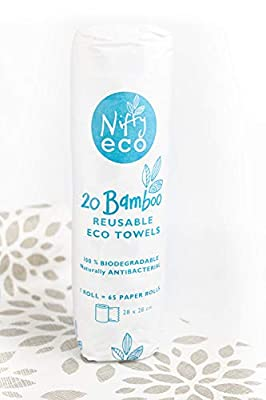 Bamboo reusable paper towels - Bamboo sheets - Reusable paper towels - Eco friendly products - Washable -1 roll 6 Months Supply