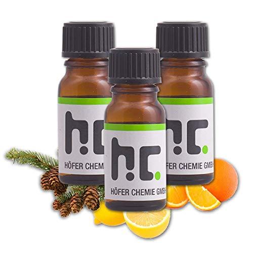 Höfer Chemie Duft Set 1 - mit 4 Düften - Konifere, Orange, Zitrone, Fichte