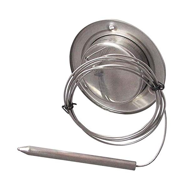 Giemme Spoleto – Termómetro de Acero Inoxidable 500 °C con sonda Flexible y conexión a Tornillos. para Horno de leña…