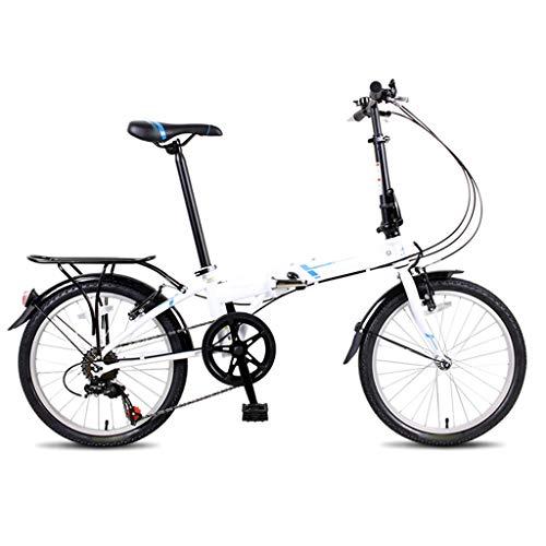 TYXTYX 20 Pulgadas Plegable De Bicicleta De Paseo Mujer Bici Plegable Adulto...