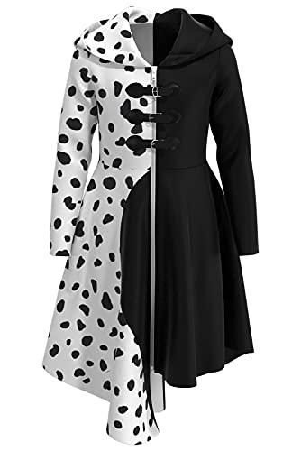 Wasoie Disfraz de bruja negro retro para Halloween, carnaval, cosplay, 120cm