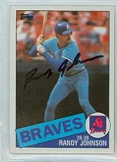 Randy Johnson AUTOGRAPH 1985 Topps #458 Atlanta Braves