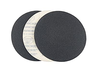 "7"" Black Heavy Duty Hook and Loop Grip Sanding Discs (25 Pack, 36 Grit)"