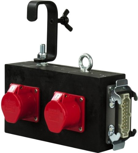 Showtec Breakout-box 4 x CEE 4P 16A Rood