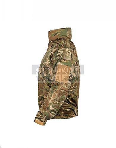 ZAPT Men Military Airsoft Combat BDU Shirt US Army Gen3 Tactical Shirt with Elbow Knee Pads (Multicam, XXXXL)