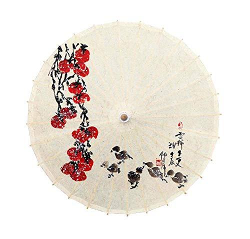 Black Temptation Parapluie de décoration de Plafond de Restaurant d'hôtel de Papier à Huile de Parasol, G03