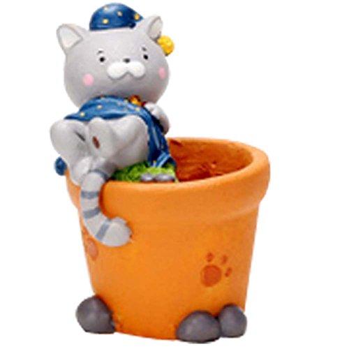Cartoon Bonne Nuit Meow Décorations de Table Résine Flower Pot
