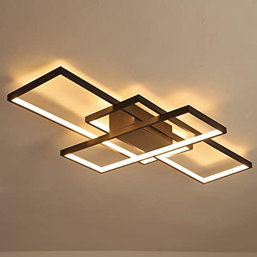 HanBaoBei Luz De Techo Led, Lámpara De Techo Elegante Moderna con Brillo De Color Ajustable, para Comedor Dormitorio Cocina Moderno(Color:luz Calida)