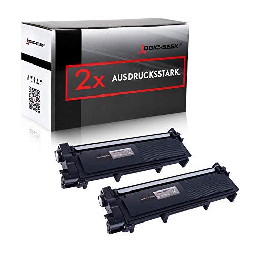 Logic-Seek 2 Toner kompatibel für Brother TN-2320 XL HL-L2340DW HL-L2360DN DCP-2500 2520 2540 2560 2700 Series D DW DN HL-2300 2320 2365 2380 Series D DW DN MFC-2700 2703 2720 2740 Series DW CW