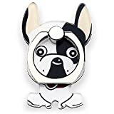 Cell Phone Ring Holder Stand, 360 Degree Rotation Universal Finger Ring Kickstand with Metal Grip [Compatible with Any Smart Phone - iPhone, Samsung, LG & More] French Bulldog 5 Types (Surprised)
