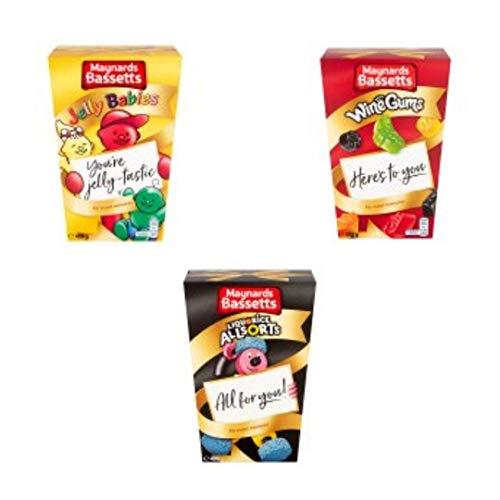 Maynard Bassetts Jelly Babies Weingummis und Lakritze Allsorts Carton Bundle | Leckere Gelees und Kaugummi | 2 x 400 g Kartons und 1 x 460 g Karton