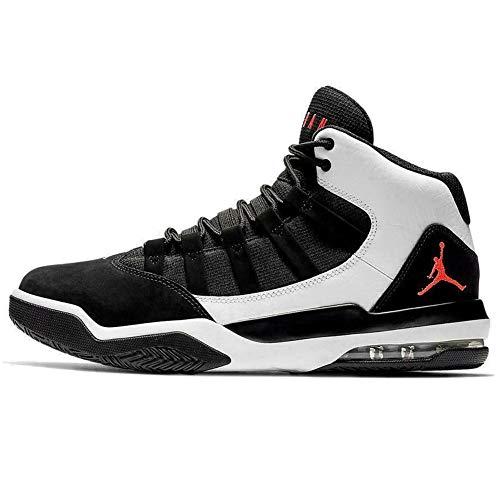 Nike Herren Jordan MAX Aura Hohe Sneaker, Mehrfarbig (White/Infrared 23-Black 101), 47 EU