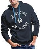 Je Peux Pas J'Ai Handball Sweat-Shirt à Capuche Premium pour Hommes, M, Marine