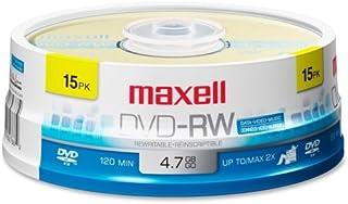 Maxell 2x DVD-RW Media - 4.7GB - 15 Pack