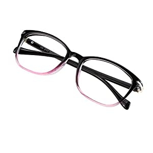 Blue Light Blocking Glasses for Women/Men, Anti Eyestrain, Computer Reading, TV Glasses, Stylish Square Frame, Anti UV, Anti Glare