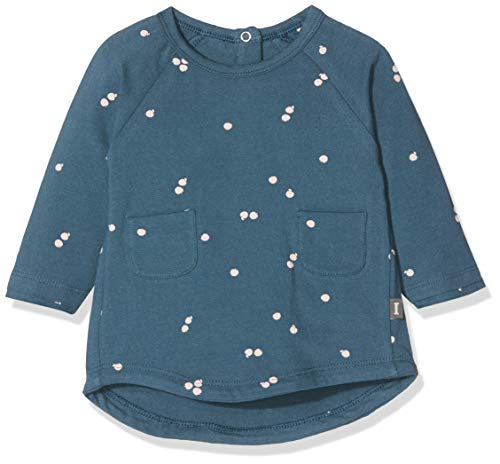 Imps & Elfs Dress Long Sleeve Robe, Bleu (Orion Blue AOP Apples P350), 74 Bébé Fille