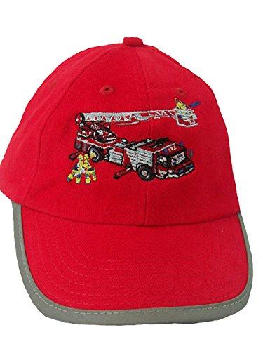 Zintgraf Security Baseball Kappe Sicherheit Cap Stickerei Feuerwehr Leiterwagen rot (54-57cm)