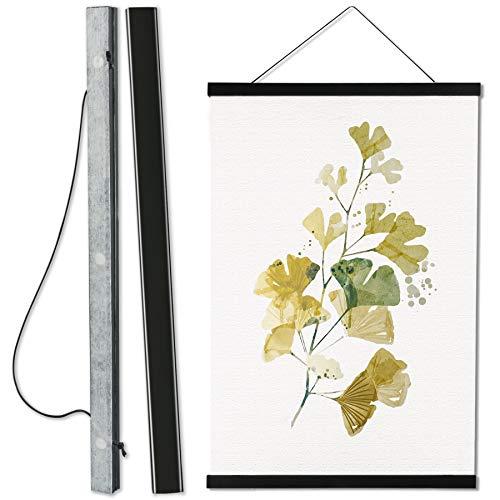 Magnetic Poster FrameHanger,Magnet Poster Hanger for Posters, Kids Paintings, Photos, Maps, Scrolls, Picture, CanvasArtWorksandArtPrints(Black)